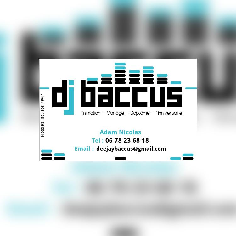 logo et carte de visite dj baccus