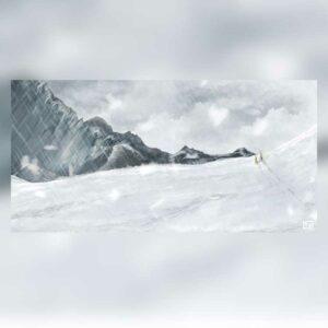 dessin digipainting montagne