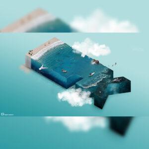 montage photo ocean